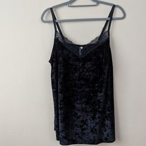 Cacique velvet and lace top